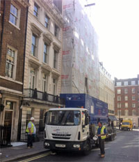 Conversion of 2 typical Mayfair townhouses, latterly used as offices, into 6 luxury apartments